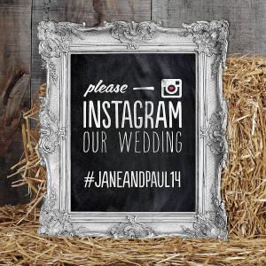 Instagram skilti